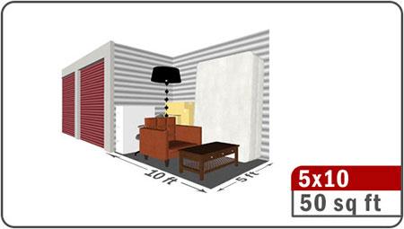 4.5x10 storage container